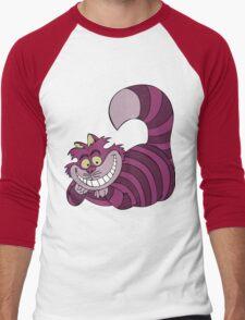 Smiling Cheshire Cat Men's Baseball ¾ T-Shirt