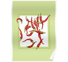 Red Hot Chillies green Poster
