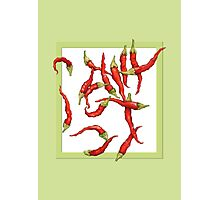 Red Hot Chillies green Photographic Print