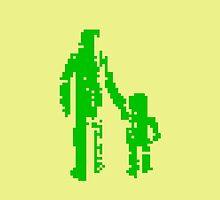 1 bit pixel pedestrians (green) by Pekka Nikrus