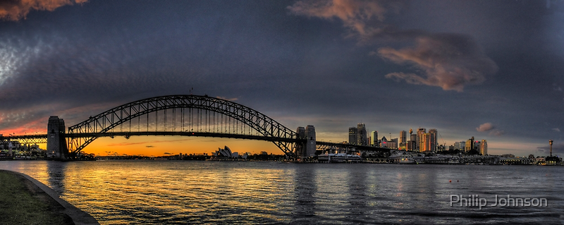 North Shore Looking East - Sydney Harbour, Sydney Australia by Philip Johnson