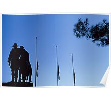 Simpson's Silhouette, Melbourne's Shrine of Remembrance, 31 Mar 2002 Poster