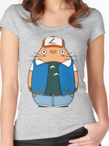 Totoro Ketchum Women's Fitted Scoop T-Shirt
