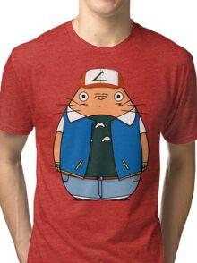 Totoro Ketchum Tri-blend T-Shirt