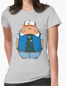 Totoro Ketchum Womens Fitted T-Shirt