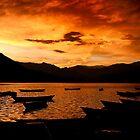 Sunset in Phewa Lake by Bruno Amaral Pereira