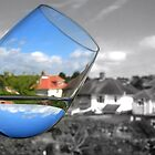 Refraction - Water and a Wine Glass by Katie Batchelor