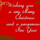 wishing you a very merry Christmas and prsoperous new year by Bernie Stronner