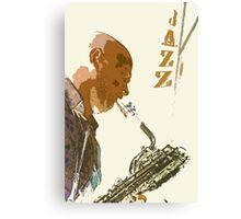 Saxophonist Jazz Poster Canvas Print
