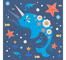 Narwhal & Babies Photographic Print