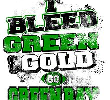 i bleed green and gold go greenbay by trendz