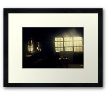 The Old Wood Factory Framed Print