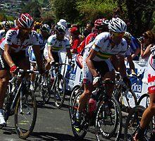 Fabian Cancellara & Cadel Evans by Steven Weeks
