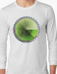 Abstract Rings of Green Long Sleeve T-Shirt