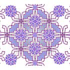 Mauve Mirrorart Pattern 2 (MP 1) by KazM