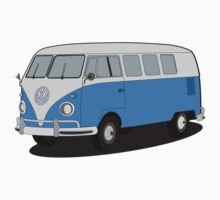 VW type 2 T1 microbus by VectorGifts