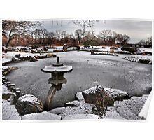 Rankei Lantern, Osaka Garden, Winter Poster