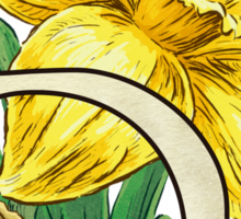 D is for Daffodil - full image Sticker