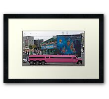Pink Hummer in Federation square, Melbourne Framed Print