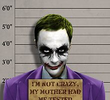 Sheldon Cooper Joker by galaxysalvo