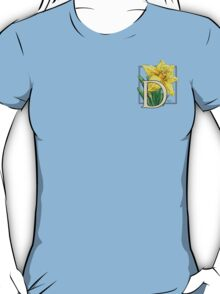 D is for Daffodil - patch T-Shirt