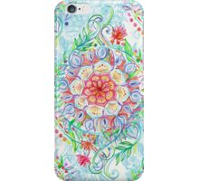Messy Boho Floral in Rainbow Hues iPhone Case/Skin