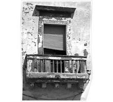 Balcony - Gallipoli, Italy Poster