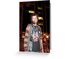 Half Bearded Man Greeting Card