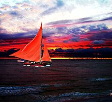 Red Sails In The Sunset by Mike Pesseackey (crimsontideguy)
