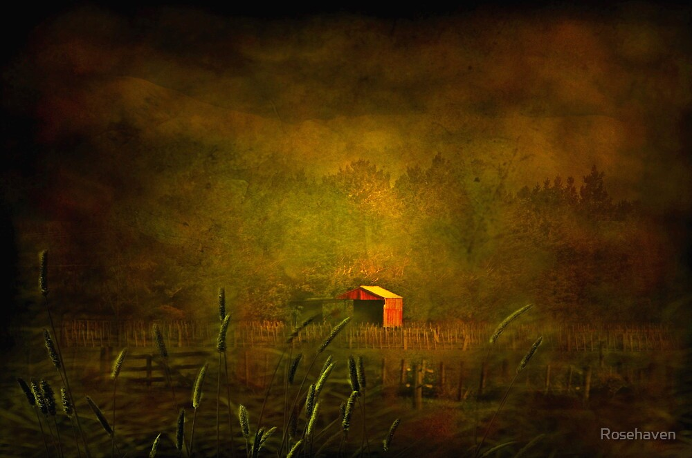 """""""The Little Red Hayshed ..."""" by Rosehaven"""