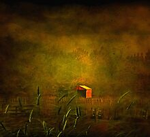 """The Little Red Hayshed ..."" by Rosehaven"