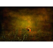 """The Little Red Hayshed ..."" Photographic Print"