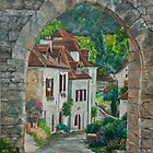 Arches of Saint-Cirq Lapopie by Charlotte  Blanchard