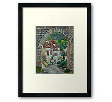 Arches of Saint-Cirq Lapopie Framed Print