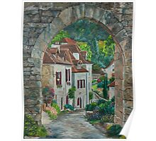 Arches of Saint-Cirq Lapopie Poster