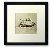 Da Vinci's tank Framed Print