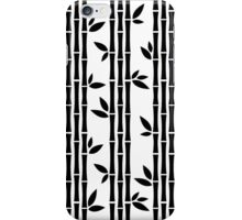 Black and white Bamboos iPhone Case/Skin