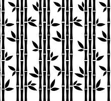 Black and white Bamboos by XOOXOO