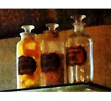 Apothecary Bottles Photographic Print