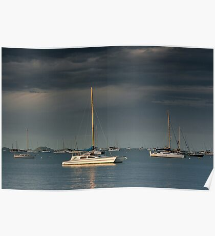 Cruising Yachts-Airlie Beach Poster