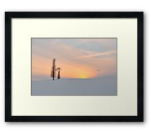 Mother Nature & daughter Framed Print
