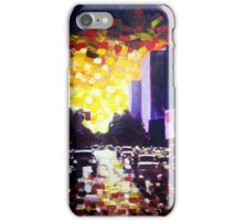 Summer sunset in the city iPhone Case/Skin