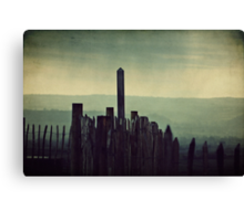 It was a gloomy day that day... Canvas Print