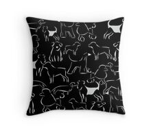 Dog Crazy! Throw Pillow