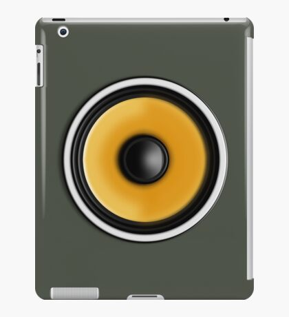Bass Speaker iPad Case/Skin