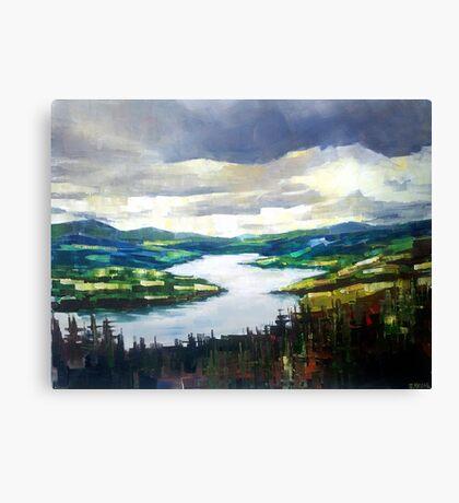 Through the clouds, nature landscape Canvas Print