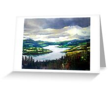Through the clouds, nature landscape Greeting Card