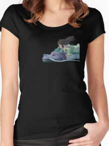 Chihiro meets Falcor Women's Fitted Scoop T-Shirt