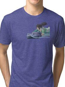 Chihiro meets Falcor Tri-blend T-Shirt