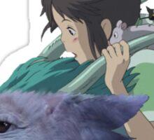 Chihiro meets Falcor Sticker